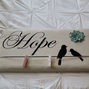 Hope Bird Wall Hanging